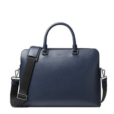 Kabela na notebook Michael Kors Harrison Leather Briefcase navy