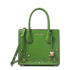 Kabelka Michael Kors Mercer Floral Embellished Crossbody true green