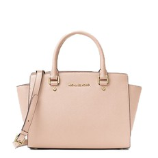 Kabelka Michael Kors Selma Saffiano Leather Medium Satchel soft pink