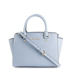 Kabelka Michael Kors Selma Saffiano Leather Medium Satchel pale blue