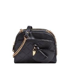 Kožená kabelka Guess Cleo Quilted Leather Crossbody