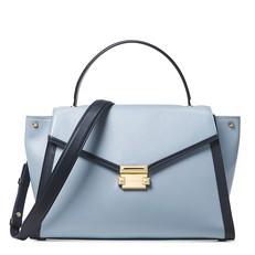 Kabelka Michael Kors Whitney Large Leather Satchel pale blue