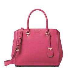 Kabelka Michael Kors Benning Large Leather Satchel rose pink