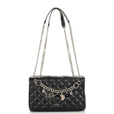 Kabelka Guess Victoria Quilted Look Crossbody černá