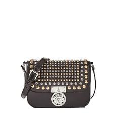 Kožená kabelka Guess Boxy Leather Crossbody Appliqués