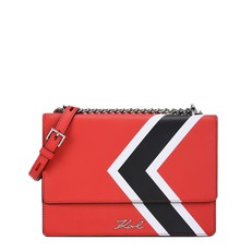 Kabelka Karl Lagerfeld K/Stripes Leather Shoulder