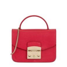 Kožená kabelka Furla Metropolis Top Handle S ruby