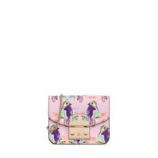 Kožená kabelka Furla Metropolis Mini Crossbody Toni Camelia