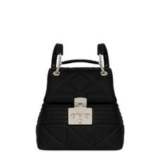 Kožená kabelka batoh Furla Fortuna Backpack S onyx
