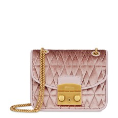 Kožená kabelka Furla Metropolis Mini Crossbody Cometa velvet rosa