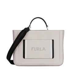 Kožená kabelka Furla Reale Tote perla