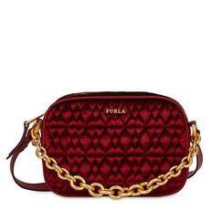 Kožená kabelka Furla Cometa Mini Crossbody velvet rosso