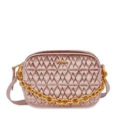 Kožená kabelka Furla Cometa Mini Crossbody velvet rosa