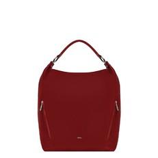 Kožená kabelka Furla Lady Hobo M ciliegia