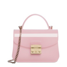 Kabelka Furla Candy Mini Crossbody rosa chiaro