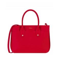 Kožená kabelka Furla Mediterranea Tote S ruby
