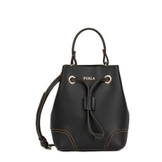 Kožená kabelka Furla Stacy Mini onyx