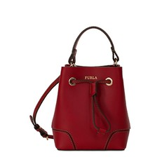 Kožená kabelka Furla Stacy Mini cherry