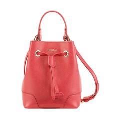 Kožená kabelka Furla Stacy Mini červená
