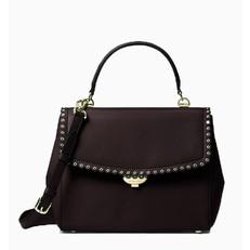 Kabelka Michael Kors Ava Medium Scalloped Leather Satchel černá