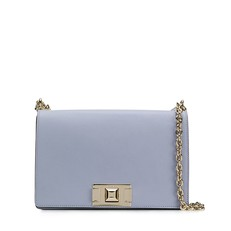 Kožená kabelka Furla Mimi Crossbody S violetta
