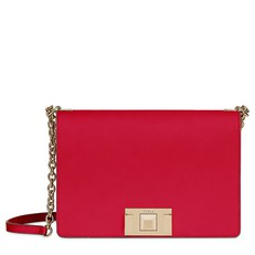 Kožená kabelka Furla Mimi Crossbody S ruby