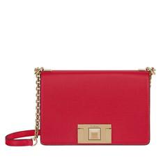 Kožená kabelka Furla Mimi Mini Crossbody ruby
