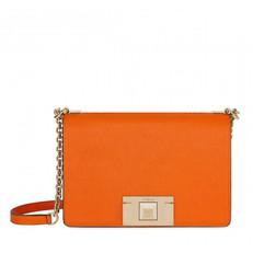 Kožená kabelka Furla Mimi Mini Crossbody mandarino