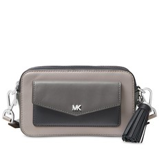 Kabelka Michael Kors Small Tri-Color Leather Camera pearl grey