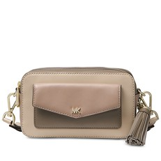 Kabelka Michael Kors Small Tri-Color Leather Camera oat/truffle
