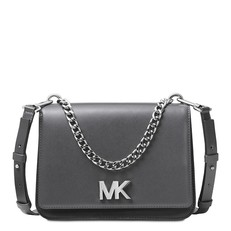 Kabelka Michael Kors Mott Colorblock Chain Swag Crossbody charcoal/grey