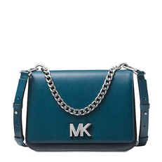 Kabelka Michael Kors Mott Colorblock Chain Swag Crossbody teal/admiral