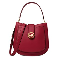 Kabelka Michael Kors Lillie Medium Leather Shoulder maroon