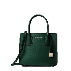 Kabelka Michael Kors Mercer Pebbled Leather Accordion Crossbody racing green