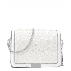 Kabelka Michael Kors Jade Medium Gusset Clutch optic white