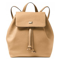 Kabelka batoh Michael Kors Junie Medium Pebbled Leather Backpack butternut