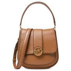 Kabelka Michael Kors Lillie Medium Stitched Leather Shoulder acorn