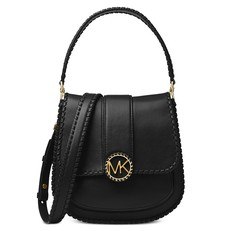 Kabelka Michael Kors Lillie Medium Stitched Leather Shoulder černá