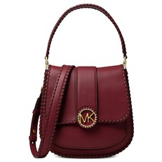Kabelka Michael Kors Lillie Medium Stitched Leather Shoulder oxblood