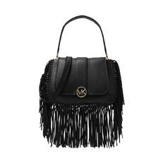Kabelka Michael Kors Lillie Medium Fringed Leather Shoulder černá