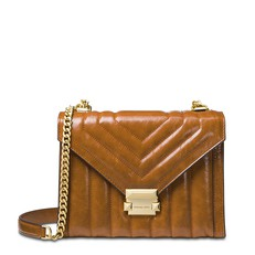 Kabelka Michael Kors Whitney Polished Quilted Leather Shoulder acorn