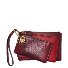 Kabelka Michael Kors Two-Tone Leather Pouch Trio oxblood/maroon