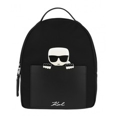 Kabelka batoh Karl Lagerfeld K/Ikonik Nylon Small Backpack