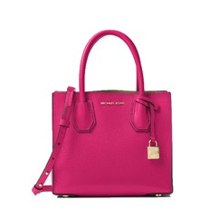 Kabelka Michael Kors Mercer Leather Crossbody ultra pink