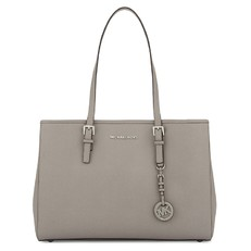 Kabelka Michael Kors Jet Set Travel Saffiano Tote pearl grey