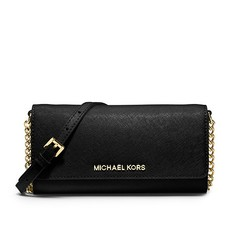 Kabelka Michael Kors Jet Set Travel Saffiano Leather Chain Wallet černá