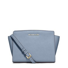 Kabelka Michael Kors Selma Medium Saffiano Messenger pale blue