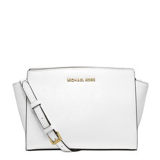 Kabelka Michael Kors Selma Medium Saffiano Messenger optic white
