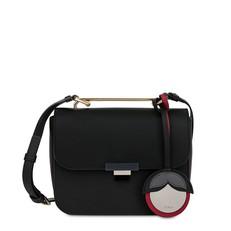 Kožená kabelka Furla Elisir Mini Crossbody onyx