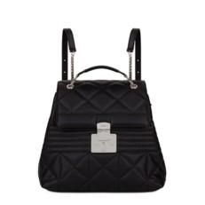 Kožená kabelka batoh Furla Fortuna Backpack M onyx